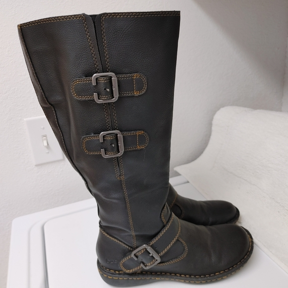 Black and Brown b.o.c Wide Calf by Born Tall Riding Style Boots